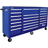 Homak H2PRO Series 72-Inch 21-Drawer Rolling Cabinet, Blue, BL04021720