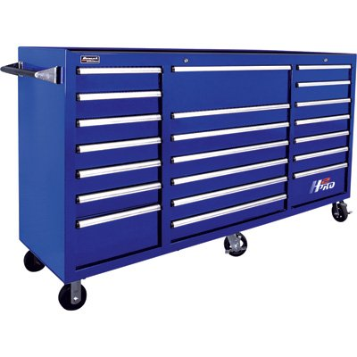 Blue Professional Tool Box - Homak H2PRO Series 72-Inch 21-Drawer Rolling Cabinet, Blue, BL04021720