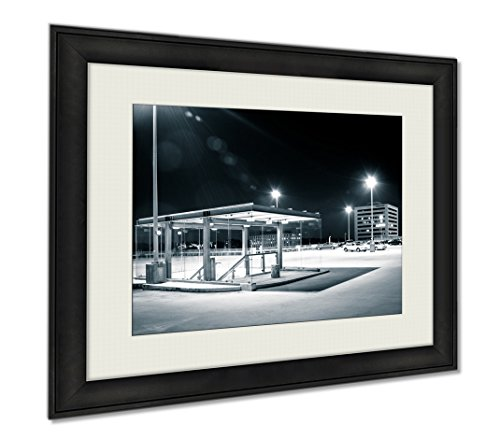 Ashley Framed Prints The Roof Of A Parking Garage At Night In Columbia Maryland, Wall Art Home Decoration, Color, 30x35 (frame size), - Columbia Columbia In Maryland Mall