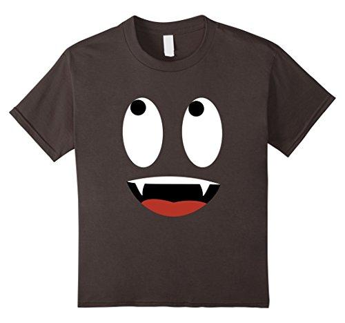 Inexpensive Last Minute Halloween Costumes (Kids Last Minute Halloween Costume Shirt Vampire Face 8 Asphalt)