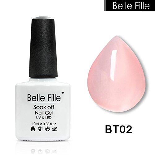 Belle Fille Jelly Nail Gel UV Nail Gel Polish Transparent Pi