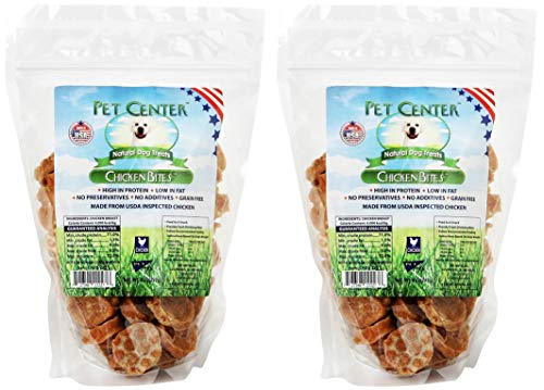 (Pet Center Chicken Nibbles Natural Dog Treats, 8 Ounces, Single-Ingredient Snacks Made in The USA (2 Pack - 8 Ounces))