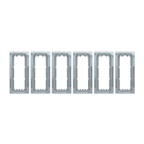 Bully  GI-06 Triple Chrome Plated ABS Snap-in Imposter Grille Overlay, 7 Piece ()