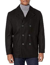 London Fog Wool Blend Double Breasted Pea Coat