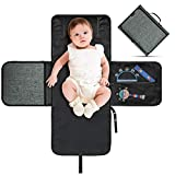 VOLADOR Portable Diaper Changing Pad, Baby Changing Mat Waterproof Travel Changing Station - Extra Large