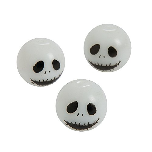 Zombie Glass Beads - 14mm a 1mm hole (14mm 1 Glass Bead)