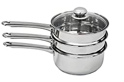 Ragalta PLGS-013 4-Piece Double Boiler Set with Steamer Insert, 3-Quart