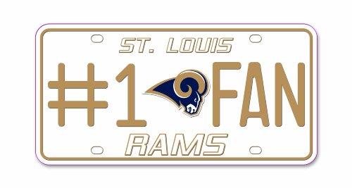 Louis Rams Metal - NFL St. Louis Rams #1 Fan Metal Tag