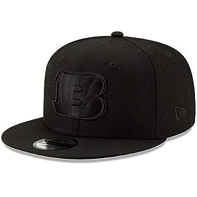New Era Cincinnati Bengals Hat NFL Black on Black 9FIFTY Snapback Adjustable Cap Adult One Size
