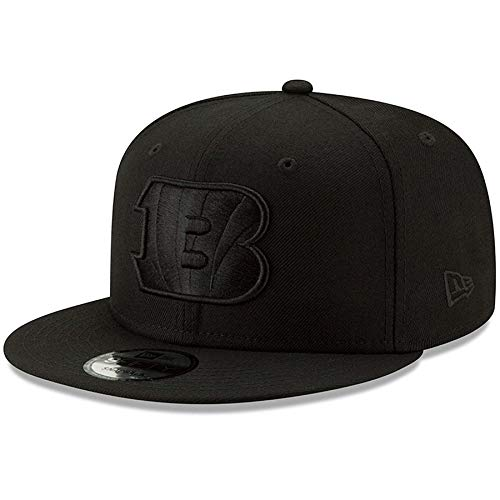 New Era Cincinnati Bengals Hat NFL Black on Black 9FIFTY Snapback Adjustable Cap Adult One Size ()