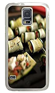 Samsung S5 case poetic Finger Foods PC Transparent Custom Samsung Galaxy S5 Case Cover