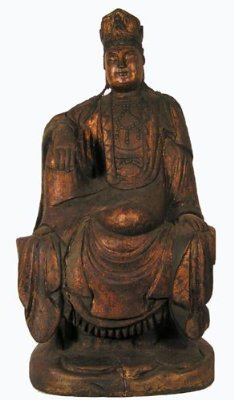 Antique Statue / Seated Male Aspect / Quan Yin