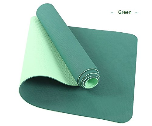 Shi18Sport TPE Yoga-Matte 6Mm Anti-Rutsch-Yoga-Matte Für Fitness-Studio Pilates Pad 183X61X0.6Cm Sport-Matte mit Yoga-Tasche