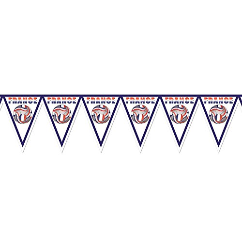 Pack of 6 Red, White and Blue ''France'' Soccer Themed Pennant Banner Party Decorations 7.4' by Party Central
