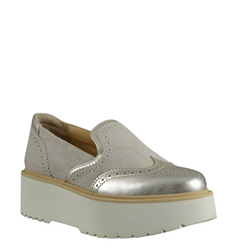 Hogan Women's Loafer Flats Beige/Platino BrFtJ