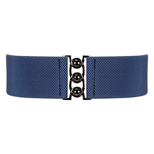 Wide Elastic Waist Belt for Women, XZQTIVE Stretchy Cinch Belt for Dress Waistband Belt