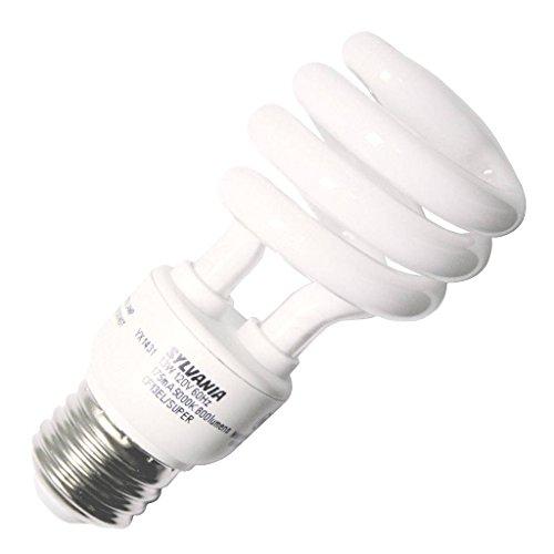 (OSRAM SYLVANIA GIDDS-SX-0718069 SX-0718069 Dulux El Spiral Compact Fluorescent Lamp, Super Mini, 13W, 5000K, Medium Base, 120V s)