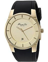 Kenneth Cole New York Mens 10027722 Slim Analog Display Japanese Quartz Black Watch