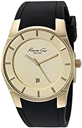 Kenneth Cole New York Men's 10027722 Slim Analog Display Japanese Quartz Black Watch
