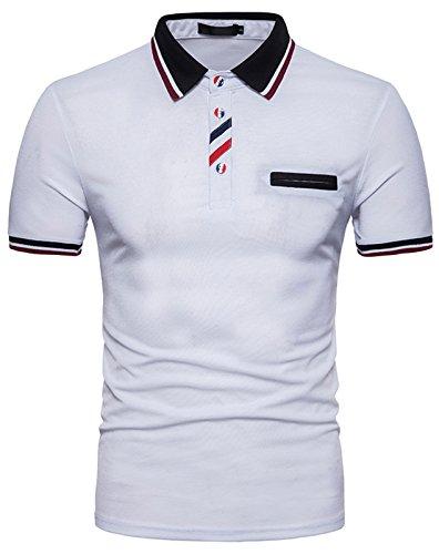 経験者言うまでもなくリーズ(ピゾフ)Pizoff メンズ ポロシャツ 半袖 カジュアル シンプル 無地 スキニー ファッション おしゃれ スポーツ ウェア ゴルフウェア 男女兼用 ポロシャツ