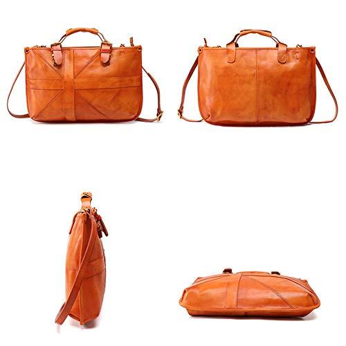 Travelbags Muñeca Cartera Shoulder Embrague Monedero Xuanbao Fashion Tote Suave Bolso La Coffee color Messenger De Del Color Para Marrón Señora Mujer Cuero tqawaYT