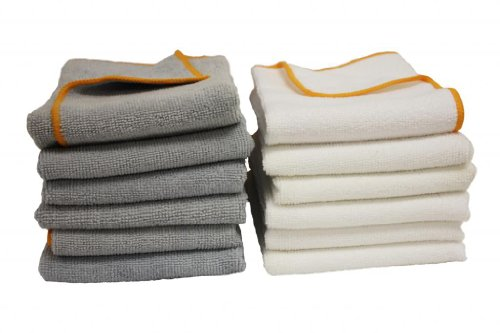 ATLAS Microfiber Gray Cleaning Towels - 24-Pack