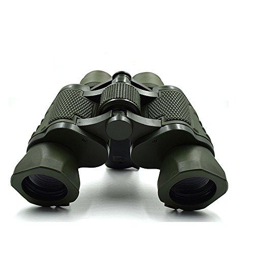 Waterproof Double Metal Cylinder Telescope 50x50 Folding Binoculars With BAK-4 Glass For Outdoor Hiking,Sightseeing,Hunting,Bird Watching.etc(Army Green)