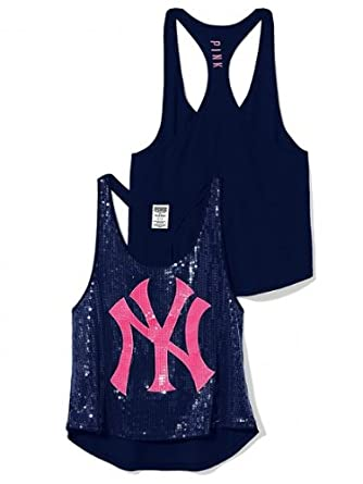 1db3aa1d57 Amazon.com  Victoria s Secret PINK New York Yankees Sequin Tank Top  Limited-Edition