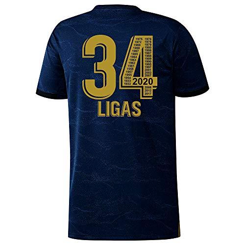 Real Madrid – 34 Ligas – Camiseta Oficial – Ganadora en 2020 de 34 Ligas – Todos los Años Mentionados
