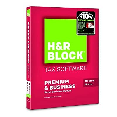 H&R Block 2015 Premium + Business Tax Software - PC/MAC Disc
