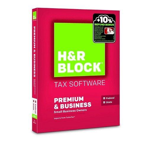 H&R Block 2015 Premium + Business Tax Software - PC/MAC Disc