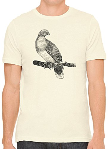 Austin Ink Apparel Unisex Fine Jersey Rare African Pigeon Print Soft T-Shirt (Cream, S)
