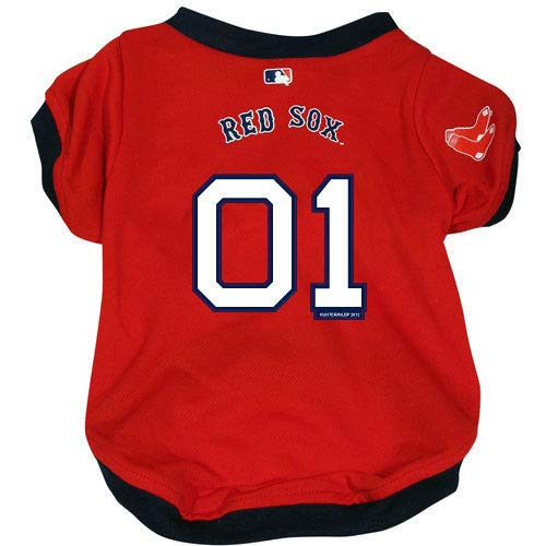 (Hunter Boston Red Sox Dog Cat Baseball Jersey Small)
