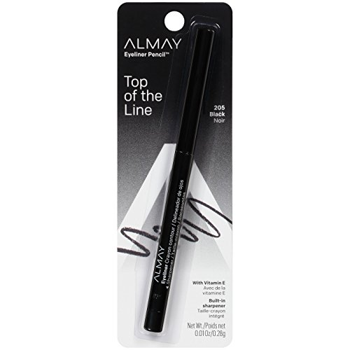 Almay Eyeliner with Built In Sharpener, Black 205, 0.01-Ounc