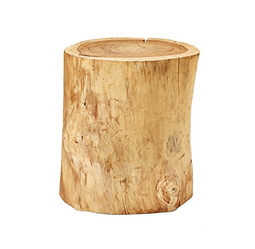 O'THENTIQUE 20 Inches Natural Wood Stump Stool | Monkey Pod Side Table Solid Acacia Wood Side Table for Home Decor by O'THENTIQUE
