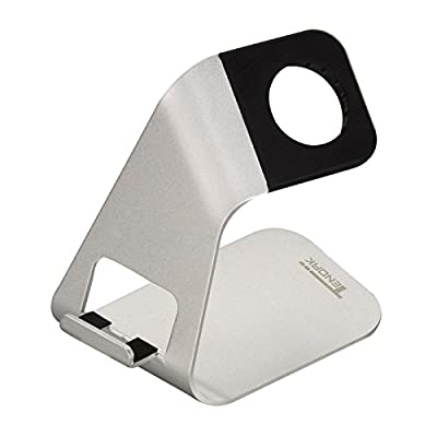 Tendak Charging Stand Bracket Docking Station Stock Cradle Holder for iWatch & iPhone/ /Samsung/HTC/Sony and other Smartphone - Aluminum Build Stand by ztendak