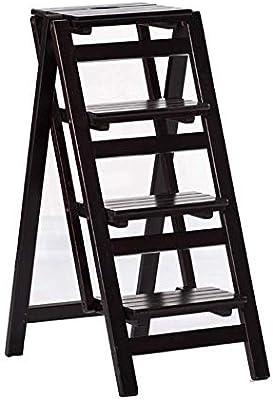 QQXX Escalera Plegable Silla Escalera Climb Kitchen Taburete de 4 ...
