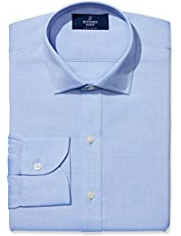 Men's Slim Fit Solid Non-Iron Dress Shirt (3 Collars...