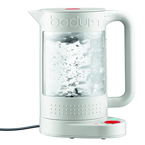 Bodum 11659-913US Bistro Electric Water Kettle, double Wall with Temperature Control, 1L, 37 oz, White