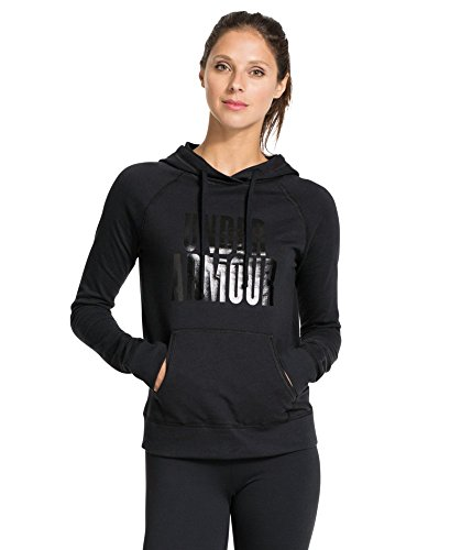 Under Armour Womens UA Pretty Gritty Stacked Hoodie Medium Black