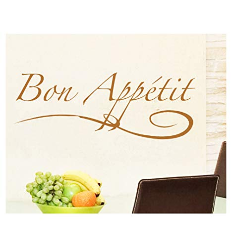 (Dailinming PVC Wall Stickers English Bon Appetit restaurant dining room European-style kitchen home decorWallpaper91.4cm x33cm-Dumb)
