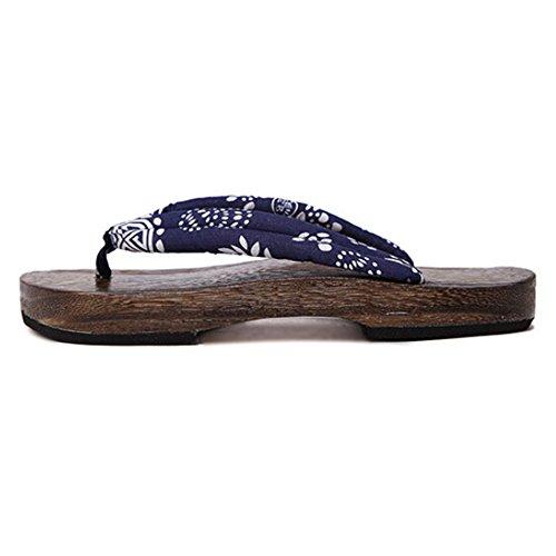 hibote Womens Men Wooden clogs Flip Flops Shoes #Xier H2 2ugXV1L