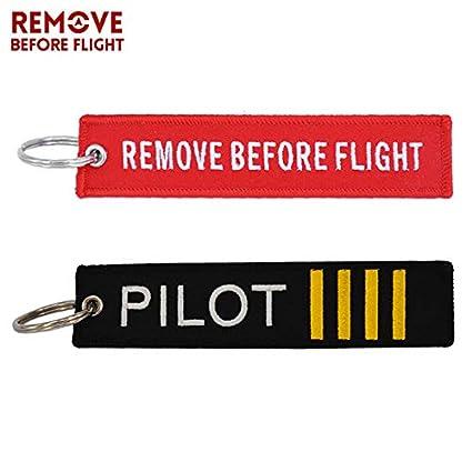 Amazon.com: Key Rings Remove Before Flight Crew Keychain ...
