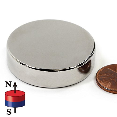 """CMS Magnetics Powerful Rare Earth Neodymium Disc Magnet Grade N45 1.5"""" Diameter x 3/8'' Thick – One Piece House Magnets Door Magnets Super strong Magnets For Sale by CMS Magnetics (Image #1)"""