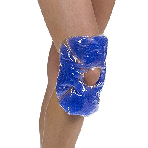 TheraPearl Color Changing Hot Cold Pack for Knee, Reusable Knee Wrap with Strap & Gel Beads, Best Ice Bag for Swelling, ACL & MCL Surgery, Sports Injuries, Non Toxic Flexible Hot & Cold Compress