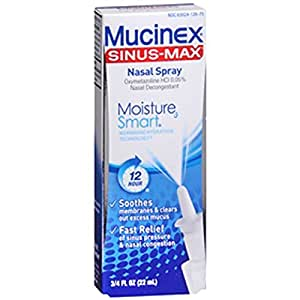 Mucinex Sinus-Max Moisture Smart Nasal Decongestant Spray, 0.75 Ounce