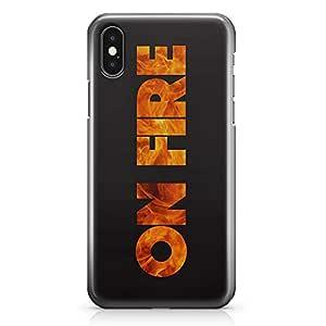 iPhone X Case On Fire Sleek Design Wrap Around iPhone 10 Case