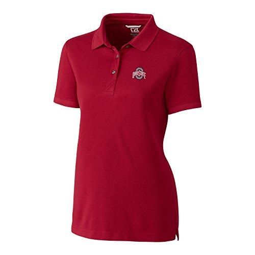 (Cutter & Buck NCAA Ohio State Buckeyes Women's Short Sleeve Advantage Polo, Cardinal Red, 3X-Large)