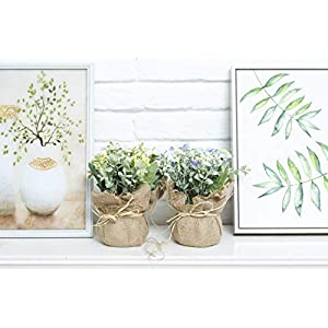 LODESTAR Artificial Flower in Beautiful Pot Mini Fake Floral Bouquet Indoor Outdoor Home Office Wedding Decoration 6
