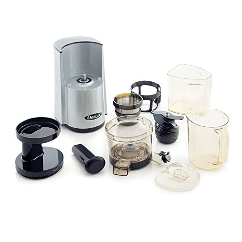 Omega Vert Vsj843rs Slow Juicer In Silver : Omega vSJ843RS Pack3 vert Slow Juicer Silver version, Plus Accessory Pack Folding Drain Rack ...